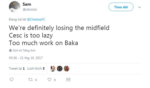 Phản ứng CĐV với đội hình ra sân Chelsea - Bóng Đá