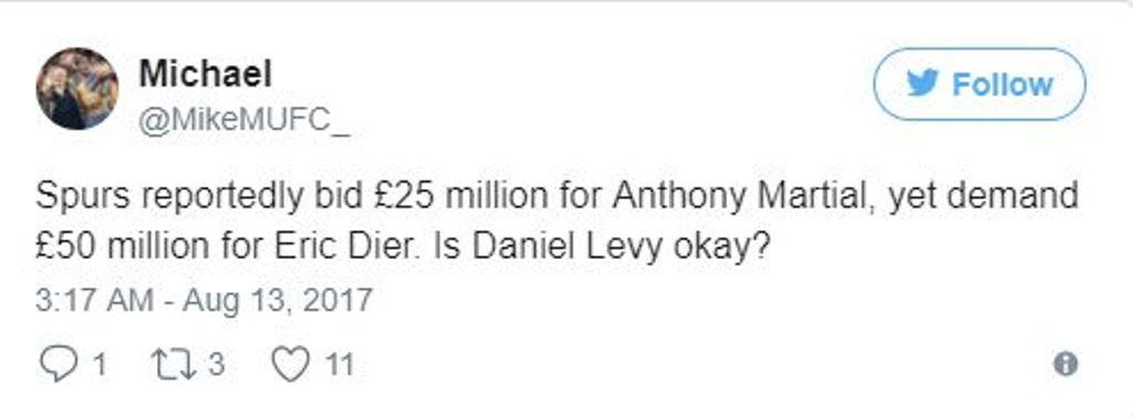 Hỏi mua Martial với giá 25 triệu bảng, Tottenham bị chế giễu - Bóng Đá