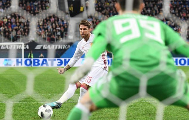Ramos lập cú đúp, Tây Ban Nha vẫn bị Nga cầm hòa - Bóng Đá