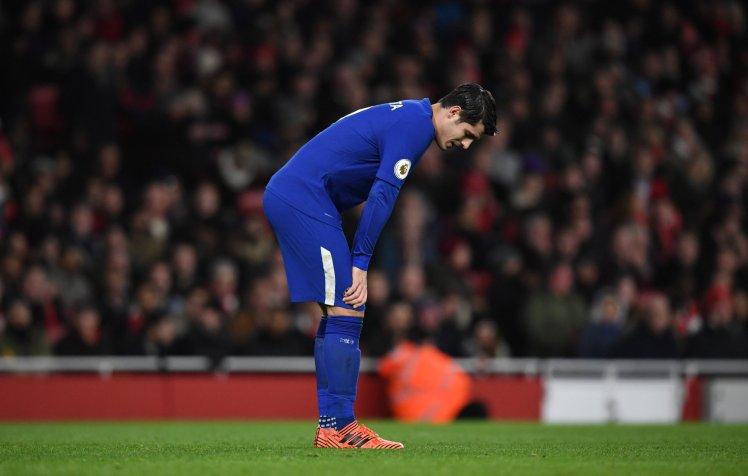 Morata lập kỉ lập buồn ở trận derby London - Bóng Đá