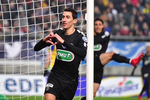 Hat-trick của Di Maria đưa PSG vào tứ kết cúp Quốc gia Pháp