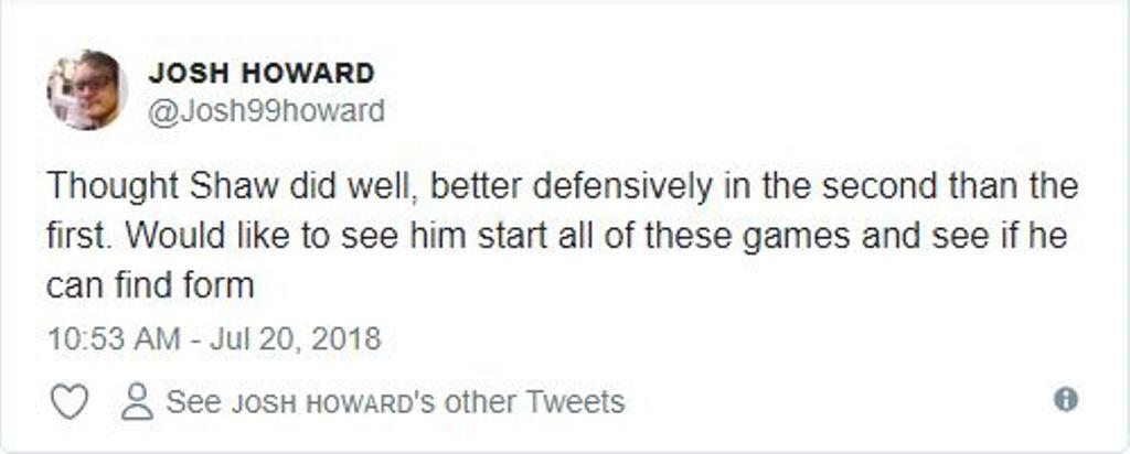 Fan Man Utd phản ứng thế nào với màn trình diễn của Shaw trước Club America? - Bóng Đá
