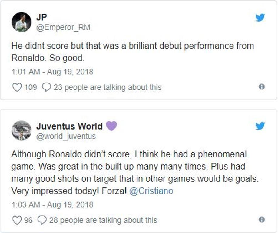 Fan cuồng nói gì về màn ra mắt Juventus của Ronaldo? - Bóng Đá
