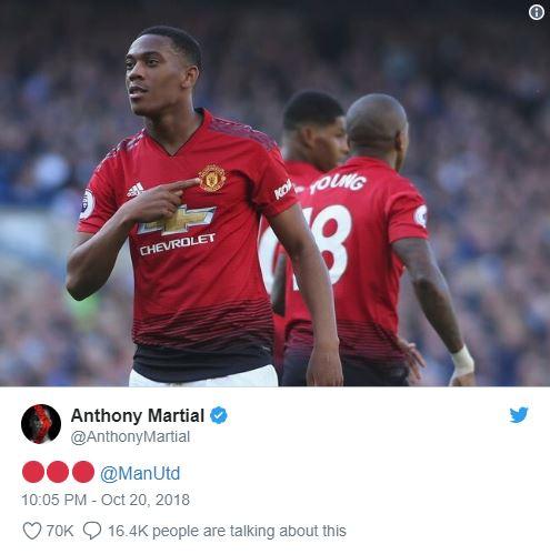 Sau cú đúp, Anthony Martial hé lộ tương lai - Bóng Đá