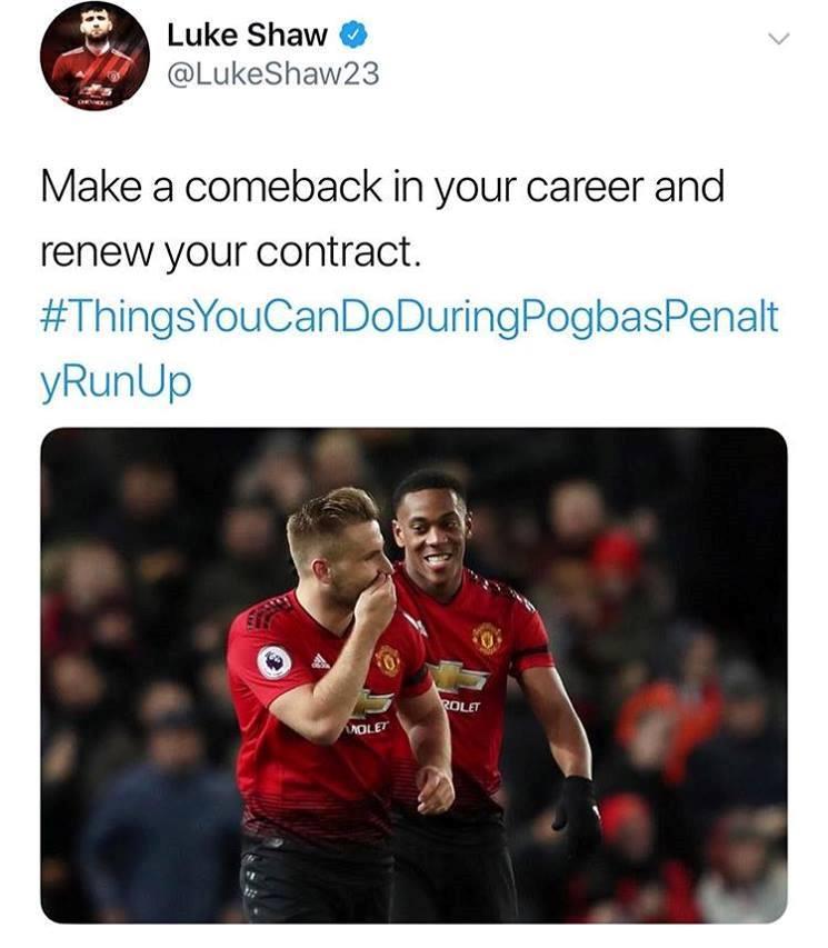 Luke Shaw mượn Martial đá đểu pha chạy đà gây ức chế của Pogba - Bóng Đá