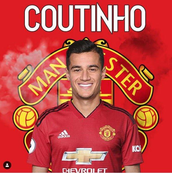 Fan Quỷ đỏ phấn khích với hình ảnh Coutinho mặc áo Man Utd - Bóng Đá
