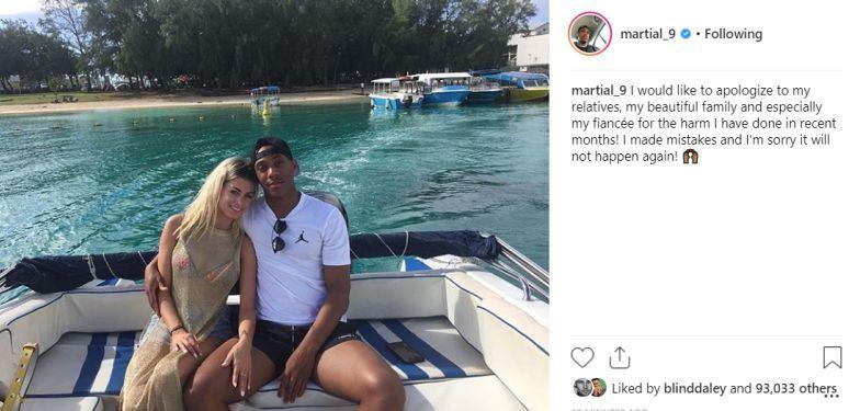 'Dính án' ngoại tình, Martial công khai xin lỗi bạn gái - Bóng Đá