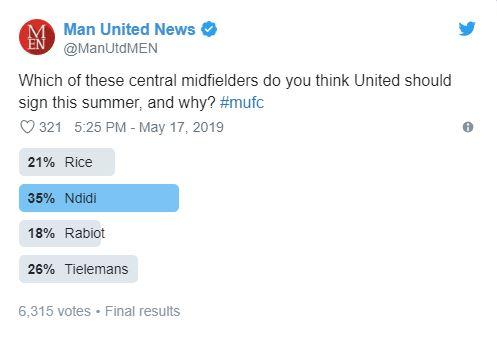 Rice, Ndidi, Rabiot, Tielemans; Man Utd nên mua ai? - Bóng Đá