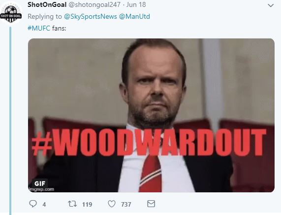 Manchester United fans react as Woodward turns down Ferguson's recommendation - Bóng Đá
