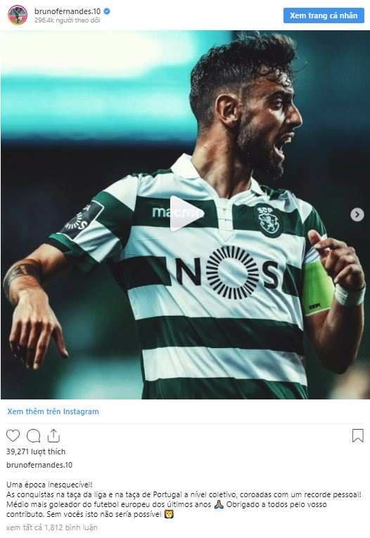 United linked Bruno Fernandes hints at Sporting goodbye - Bóng Đá