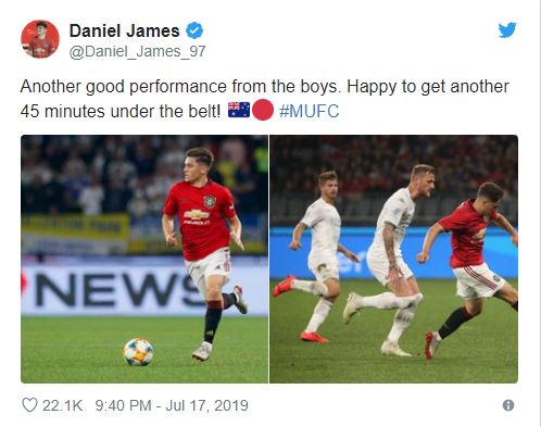 Manchester United's Daniel James Ran From Box-To-Box In Just A Few Seconds - Bóng Đá