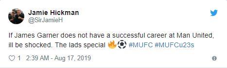 Manchester United fans react to James Garner's latest under-23 display - Bóng Đá