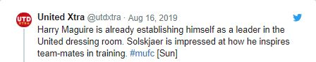Manchester United fans react to reports Harry Maguire is already becoming a leader - Bóng Đá