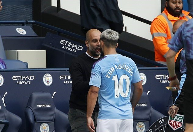 Man City vs Tottenham: Pep Guardiola explains Sergio Aguero argument after dramatic Etihad draw - Bóng Đá
