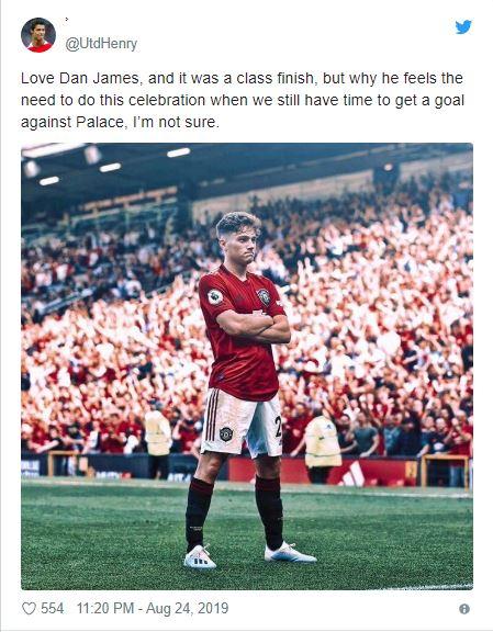 Manchester United fans slam Daniel James' celebration - Bóng Đá