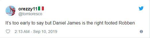 United fans compare Dan James to Arjen Robben after Wales goal - Bóng Đá