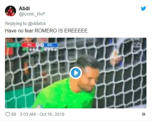 Manchester United: These fans have faith in Sergio Romero to replace David de Gea if needed - Bóng Đá