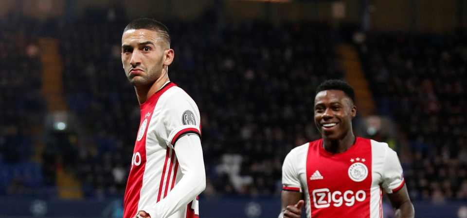 Man Utd fans desperate for club to sign Ajax star Hakim Ziyech after UCL display - Bóng Đá