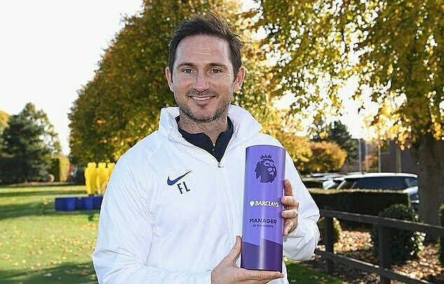 Premier League Awards Lampard nhận giải HLV hay nhất tháng 10 - Bóng Đá