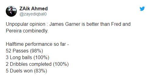 Man Utd fans drool over James Garner's performance against FC Astana - Bóng Đá