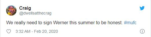 Manchester United: Fans on Twitter beg club to sign Timo Werner this summer - Bóng Đá