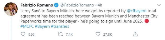 Sane đến Bayern - Bóng Đá