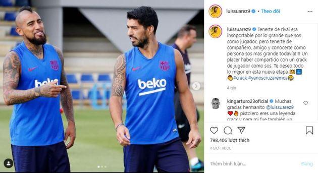 Suarez hẹn gặp Vidal - Bóng Đá