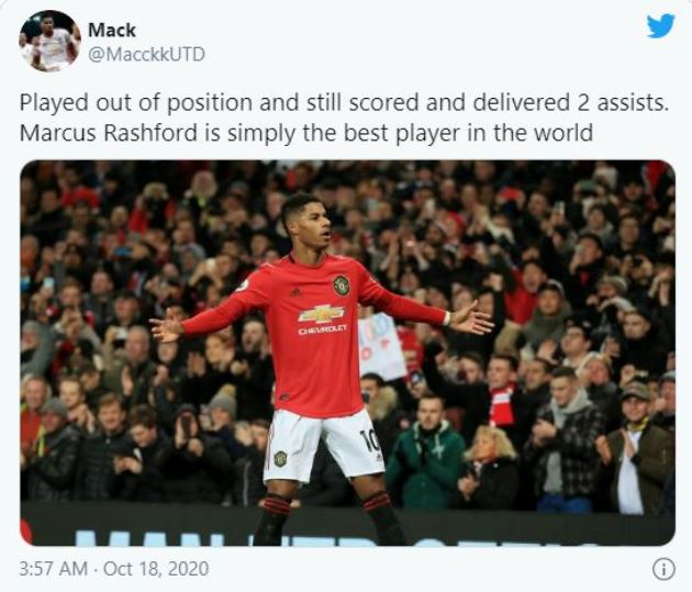 Manchester United fans react to Marcus Rashford's performance vs Newcastle United - Bóng Đá