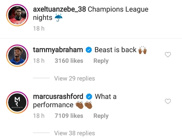 Tammy Abraham's three-word reaction to Axel Tuanzebe's performance against PSG - Bóng Đá