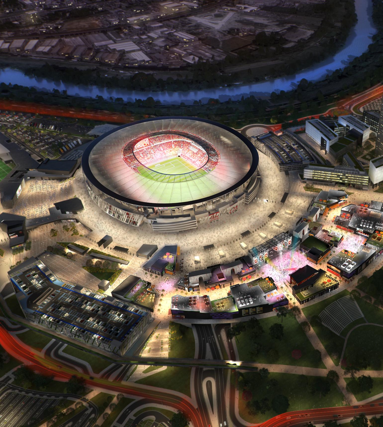 Ảnh sân nhà mới của Roma - Bóng Đá