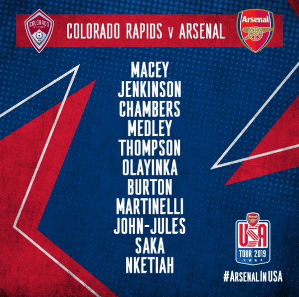 Colorado vs Arsenal - Bóng Đá
