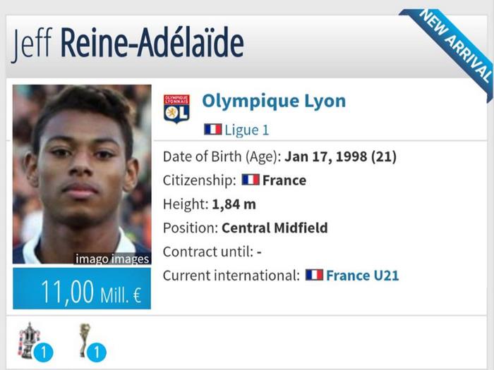 Jeff Reine-Adélaïde gia nhập Lyon - Bóng Đá
