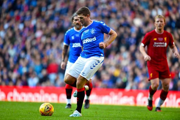 Steven Gerrard tham dự trận huyền thoại Liverpool vs Rangers - Bóng Đá