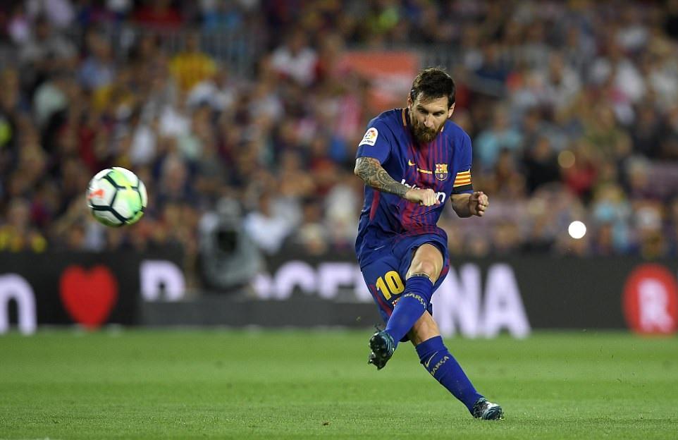 Messi lập 'hat-trick cột dọc', Barca có trận thắng dễ ngày mở màn La Liga