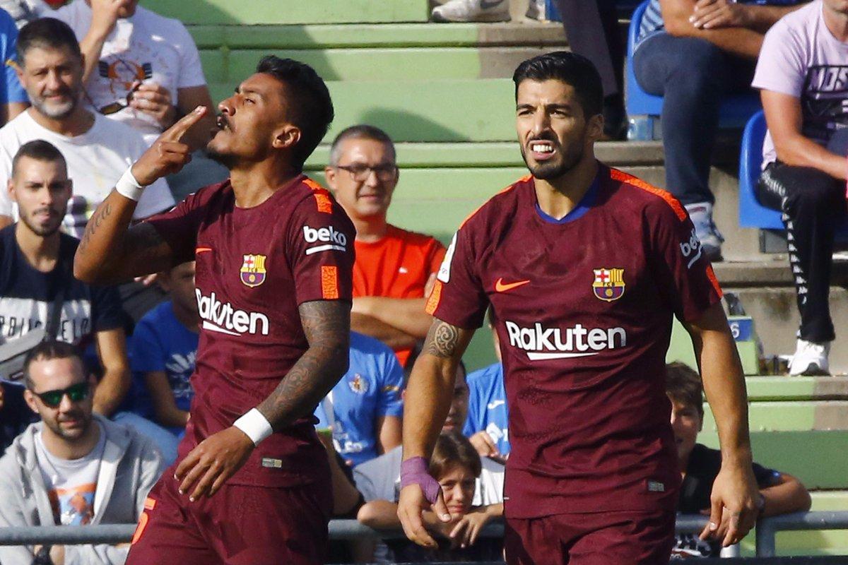 Paulinho lập công, Barca vỡ òa với chiến thắng nhọc nhằn trước Getafe