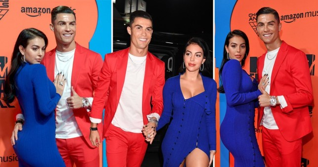 MTV EMAs 2019: Cristiano Ronaldo and girlfriend Georgina Rodriguez go bold in red, white and blue   Read more: https://metro.co.uk/2019/11/03/mtv-emas-2019-cristiano-ronaldo-girlfriend-georgina-rodriguez-make-red-carpet-bold-choices-11035908/?ito=cbshare  Twitter: https:// - Bóng Đá
