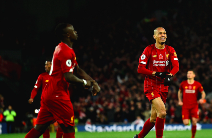 Sadio Mane copied Fabinho's celebration against Manchester City - Bóng Đá