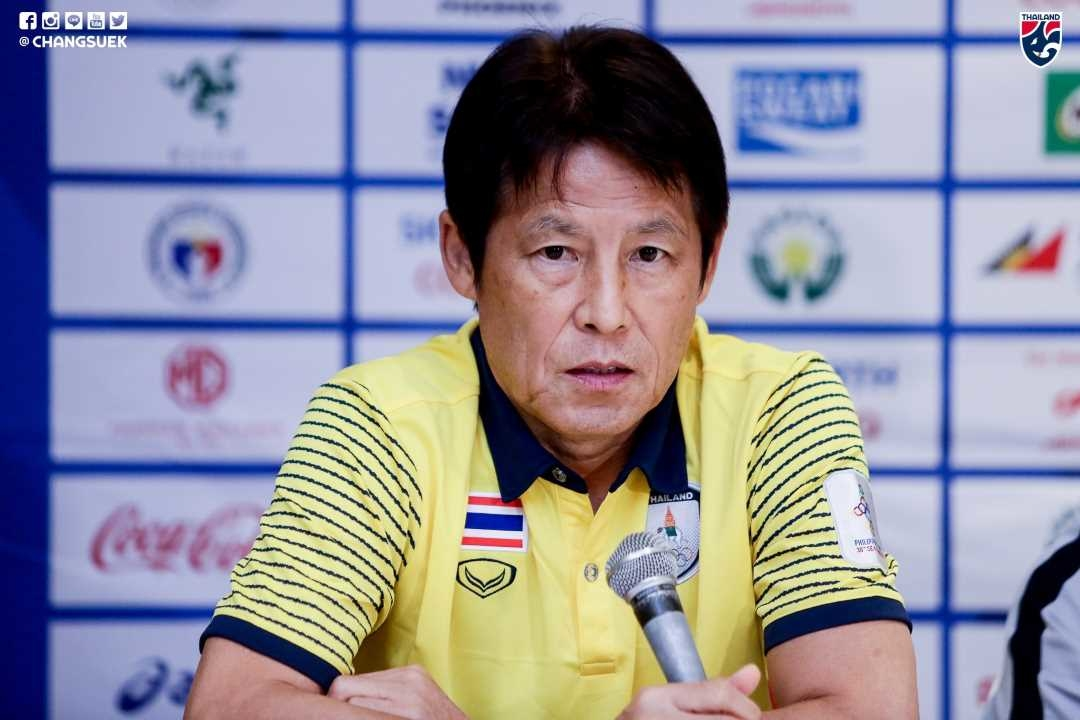Nishino joins the press conference for readiness before the competition Men's SEA Games - Bóng Đá