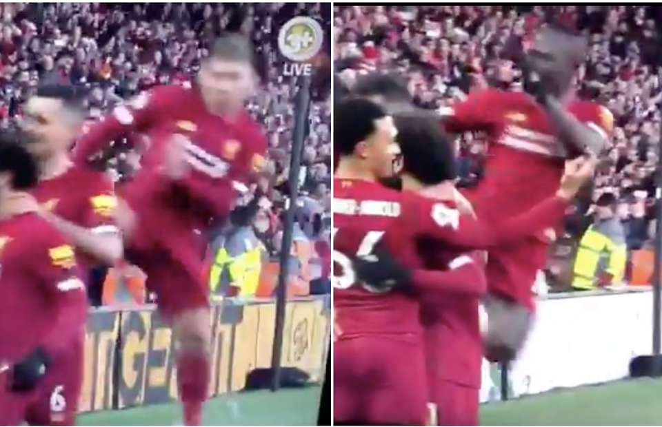 Sadio Mane copies Roberto Firmino's goal celebration again - even though Virgil van Dijk scored - Bóng Đá