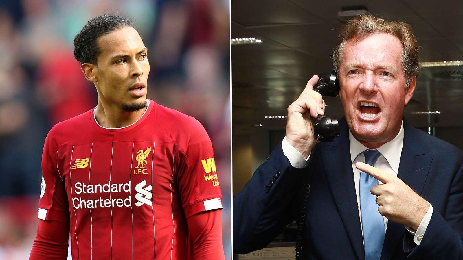 Piers Morgan shut down by Van Dijk after celebrity's knee-jerk reaction to Ronaldo's Ballon d'Or no-show joke - Bóng Đá
