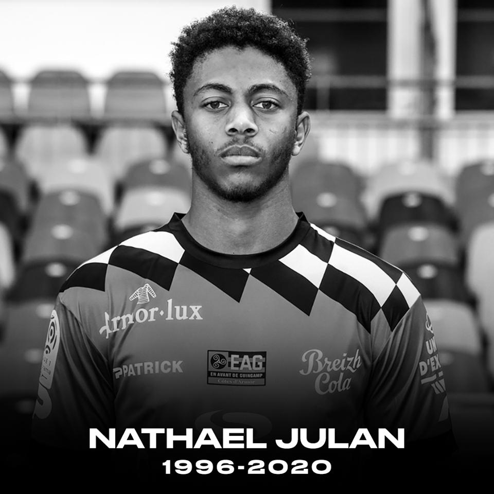 RIP Guingamp announce Nathael Julan has died in car crash, aged 23 - Bóng Đá