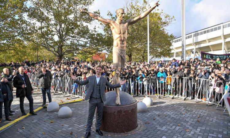 Statue of Ibrahimovic in Milan, the mayor Sala: 'Nothing against it. The Milan players decide where - Bóng Đá