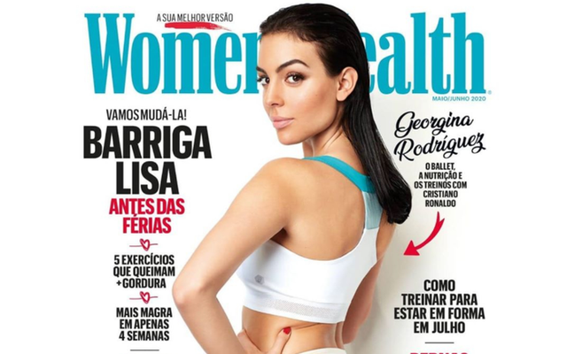 GEOR DROPPING Cristiano Ronaldo's girlfriend Georgina Rodriguez shows off slim figure as she opens up on lifestyle in Women's Health - Bóng Đá