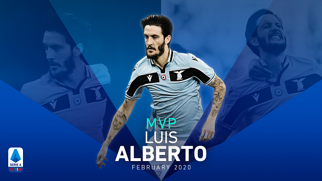 Cựu sao Liverpool giành danh hiệu Cầu thủ xuất sắc nhất tháng 2 Serie A