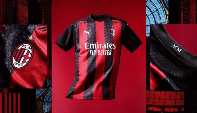 The new Milan home kit - Bóng Đá