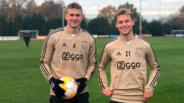 De Jong and De Ligt can help Ajax: 'It would be a big difference' - Bóng Đá