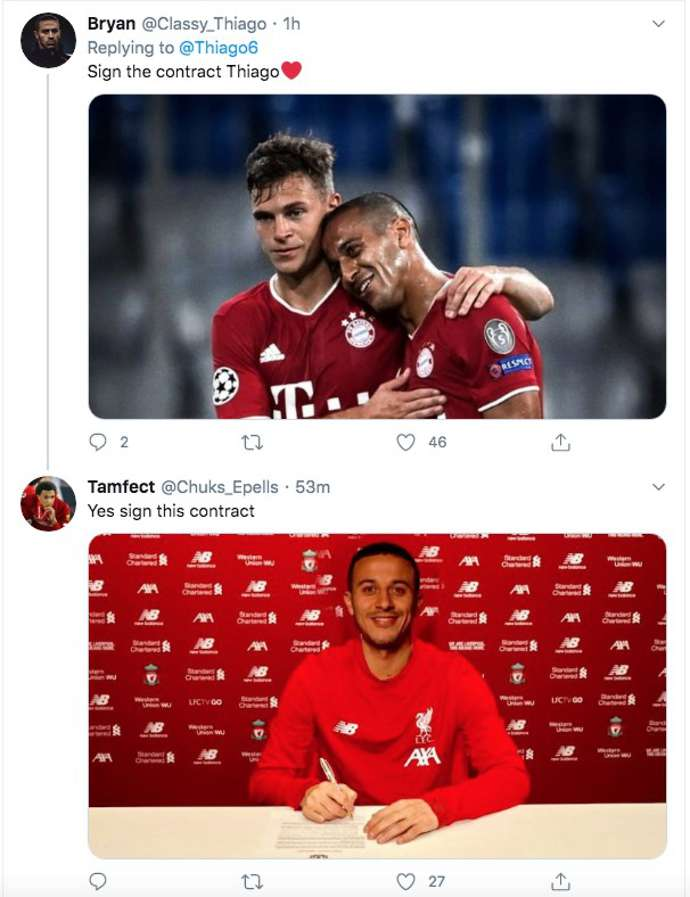 Thiago Alcantara: Liverpool fans desperately want him to sign after Bayern Munich 4-1 Chelsea - Bóng Đá