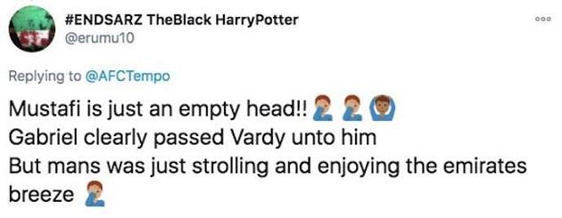 Arsenal 0-1 Leicester: Gunners' fans blame Shkodran Mustafi for Jamie Vardy's goal - Bóng Đá