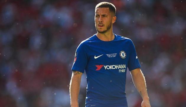 225 triệu euro là số tiền Real phải trả nếu muốn sở hữu Hazard