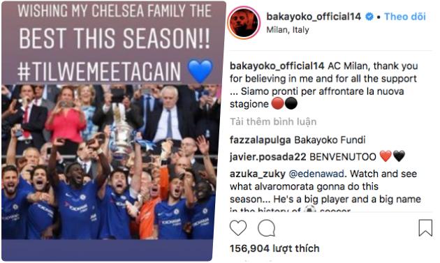 'Thảm hoạ' của Chelsea gửi tin nhắn chia tay nồng ấm trên Instagram - Bóng Đá